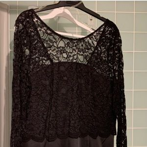 Beautiful black dress with lace top